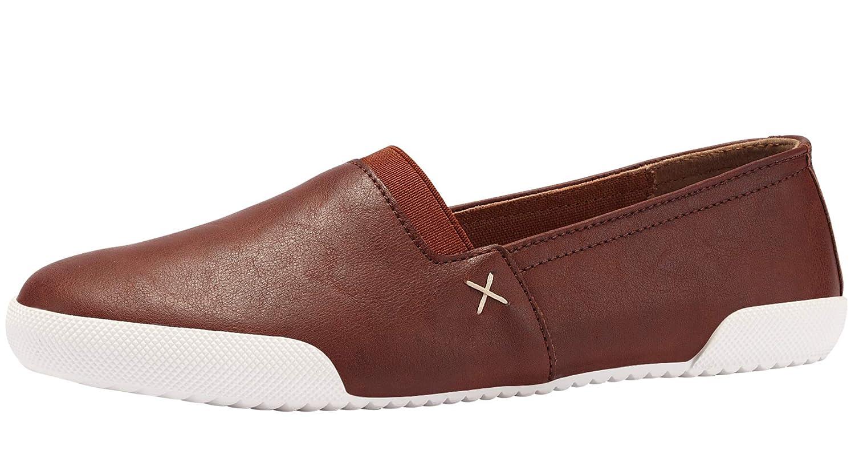 Cognac Sofree Women's Slip on Fashion Sneakers Flat Walking shoes