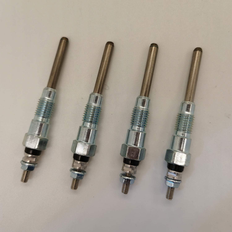 4PCS Glow Plugs 6655233 for Bobcat 753 763 773 7753 S150 S175 S185 Kubota 3 Series V2203 Engine