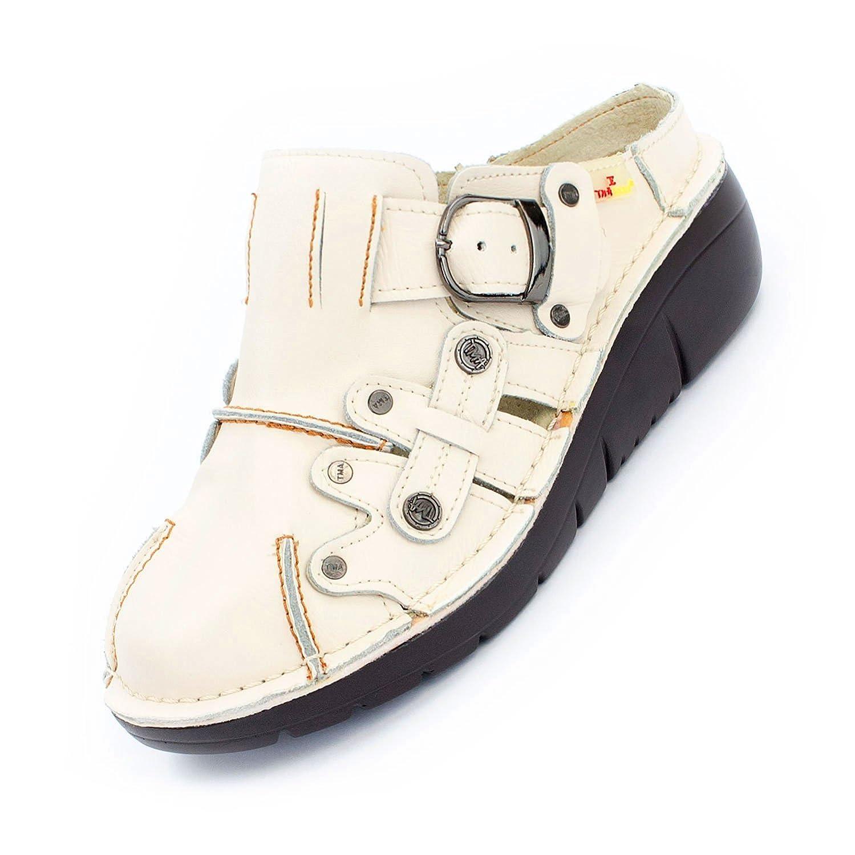 TMA Shoes 8890 - Zapatos de Tacón de Piel Lisa Mujer 36 EU Crema