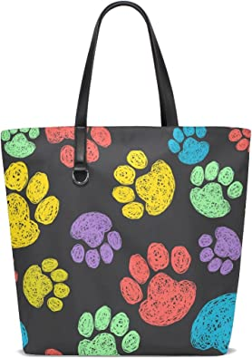 for Women Cartonn Cute Dog With Flowers Handbag Crossbody Vintage Tote Bag Picture Leather Purse