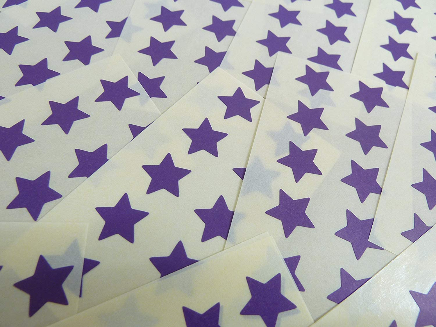 15mm Dark Purple Violet Star Shaped Labels Sticky Stars for Craft and Decoration 180 Self-Adhesive Colour Code Stickers