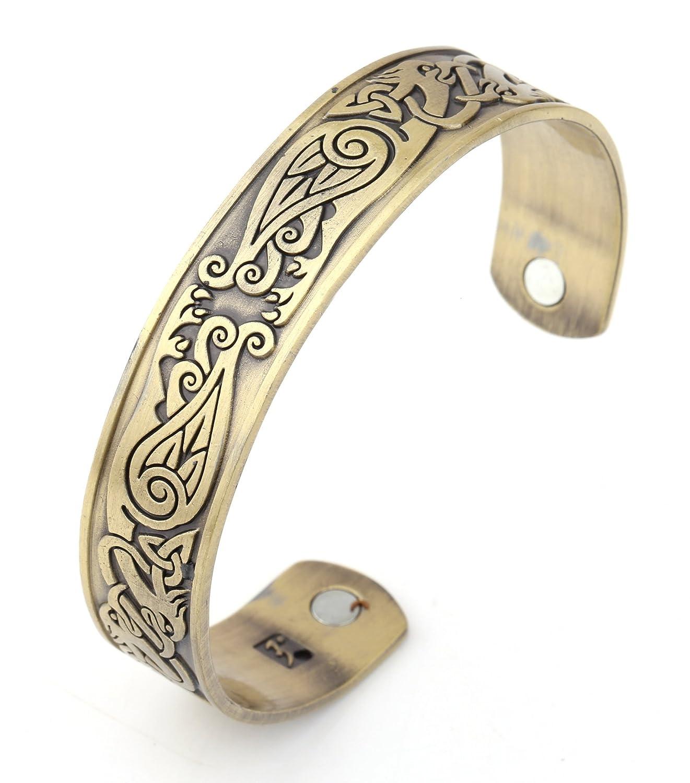 Health Care Bracelet Phoenix Totem Womens Magnetic Therapy Metal Wristband Cuff Bangle YI WU KE JI YW-B109568