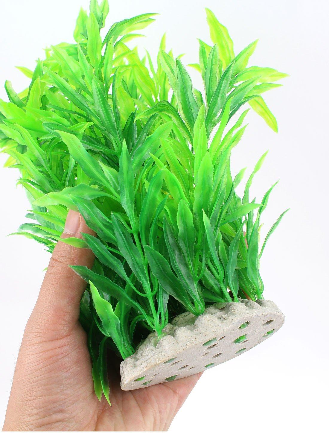 Amazon.com : eDealMax Ornamento de hierba Artificial de plástico del tanque de pescados de agua 27 cm Altura Verde : Pet Supplies