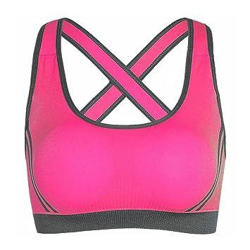 Sujetador Deportivo De Yoga Para Mujer,Netspower Sujetador Deportivo De Yoga Para Mujer Brazaletes Anchos Sujetador Bralette Suporte Sin Costuras-Rosa ...