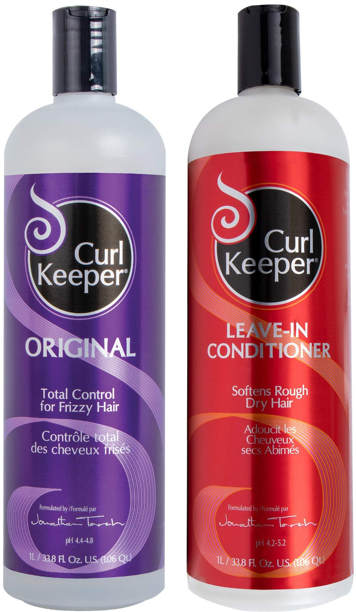 CURLY HAIR SOLUTIONS Curl Keeper Original & Leave-In Conditioner (33.8 Ounces / 1000 Milliliters) by Curly Hair Solutions