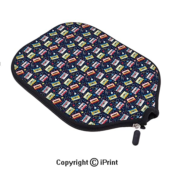 Amazon.com : Premium neoprene material, soft, thick enough Protector Pickleball Paddle Cover, Old Fashion Cassette Tapes with Stars Hearts Sound Tempo Love ...