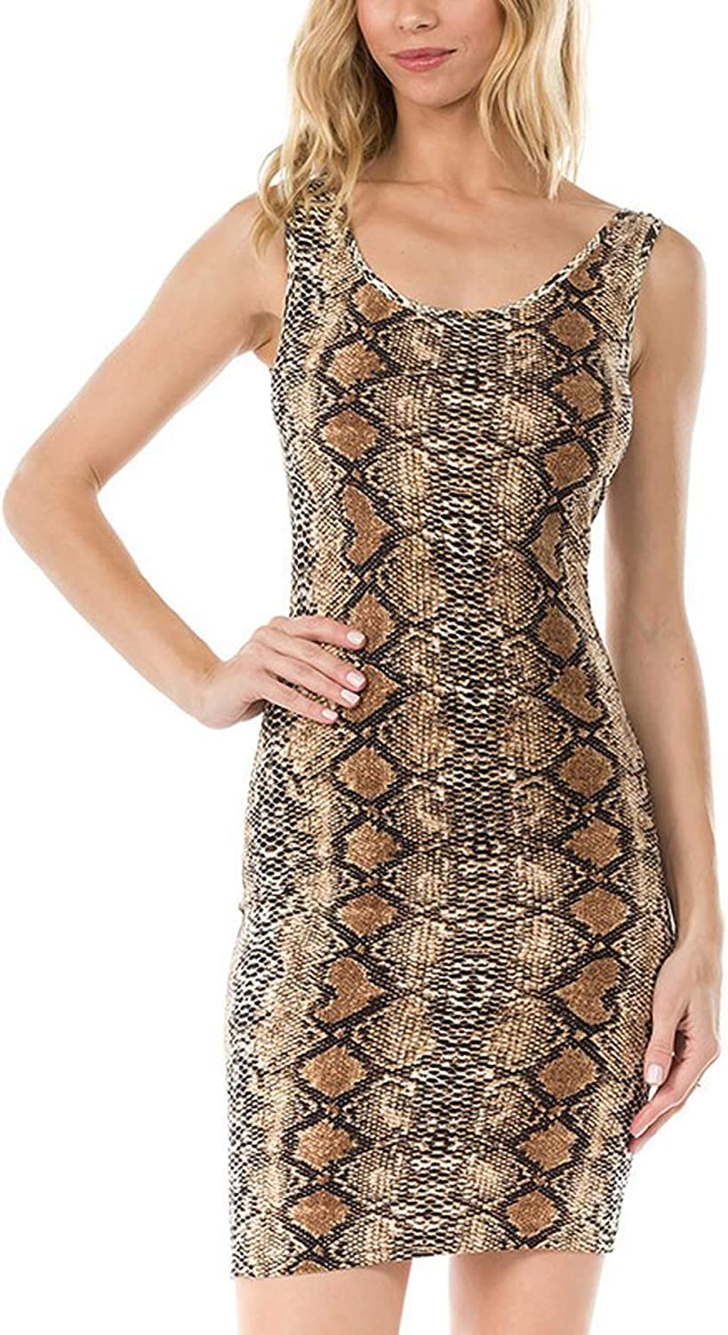 Melisse & Co. USA Sexy Animal Snakeskin Leopard Cheetah Print Dresses for Women