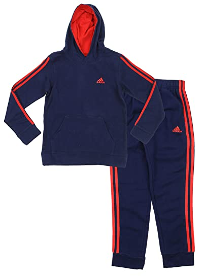 039153fd Adidas Youth Big Boys Game Time Hoodie And Pants Set, C Navy/ Scarlet