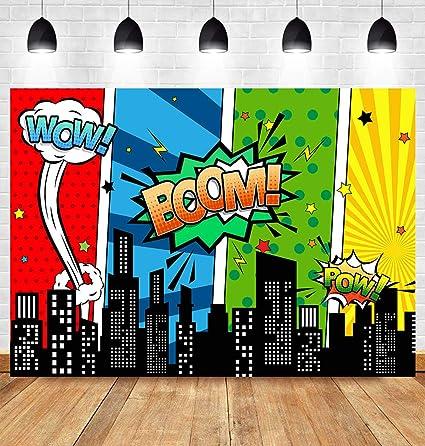 Superhelden Fotografie Hintergrund Mit Skyline Gebäude Kamera