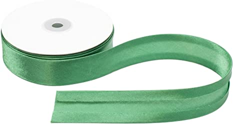 Emerald Green Satin Ribbon Bias Tape 25 mm Single Fold 5 Yards
