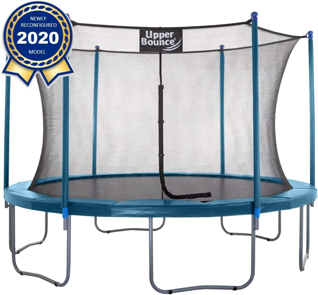 Upper Bounce Easy-to-Assemble Round Trampoline Set with Premium Jumping Mat Safety Enclosure System The 1 Best Outdoor Trampoline for Kids