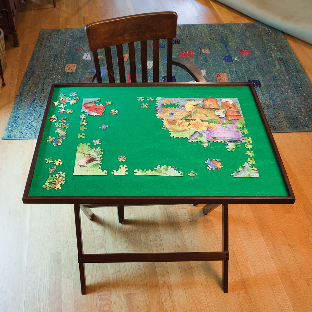 Bits and Pieces - Foldaway Jigsaw Puzzle Table - Set Up Puzzle Fun Anywhere - Folds Flat for Easy Storage When Not In Use - Puzzle Accessories