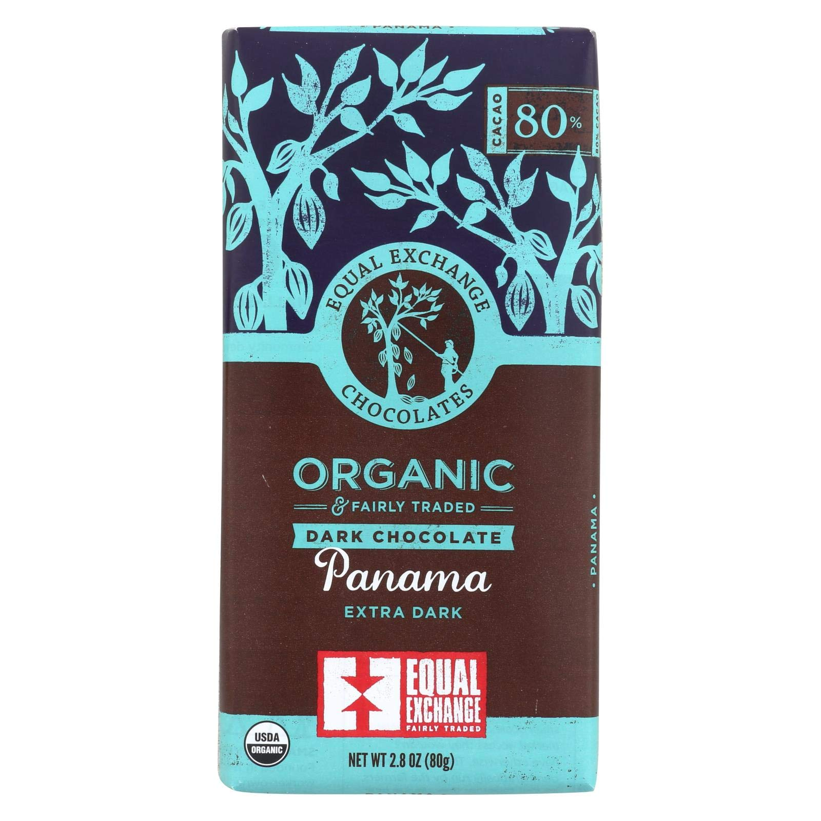 Equal Exchange, Organic Panama Extra Dark Chocolate Bar Whole Trade Guarantee, 2.8 Ounce Pack of 12 by Equal Exchange