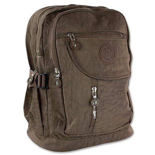 fd9dce5eaebea imppac Rucksack Handtasche braun Nylon Cityrucksack Damen Rucksacktasche Bag  Street OTJ604N