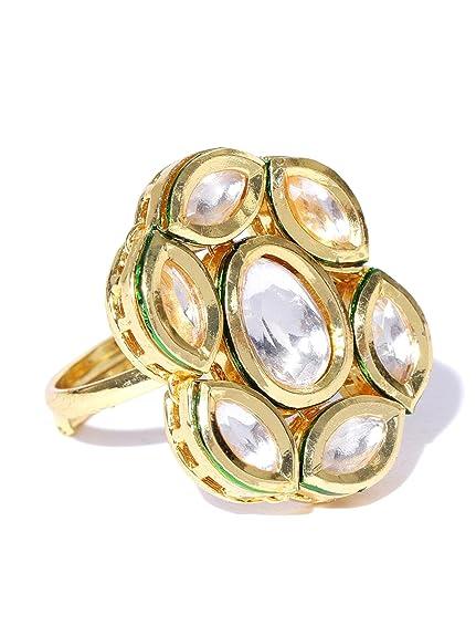 e06f3eb31453e Amazon.com: Joyria zircon Fashion Indian Beautiful Designer Gold ...