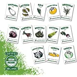 Heirloom Vegetable Seeds - 13 Varieties of Organic Non-GMO Open Pollinated Garden Seed for Planting - Weird and Rare Varietie