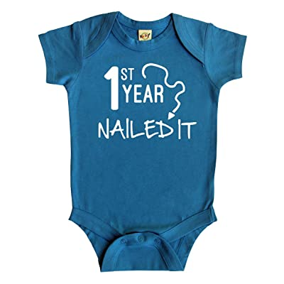 """First Year Nailed It"" Baby Bodysuit"