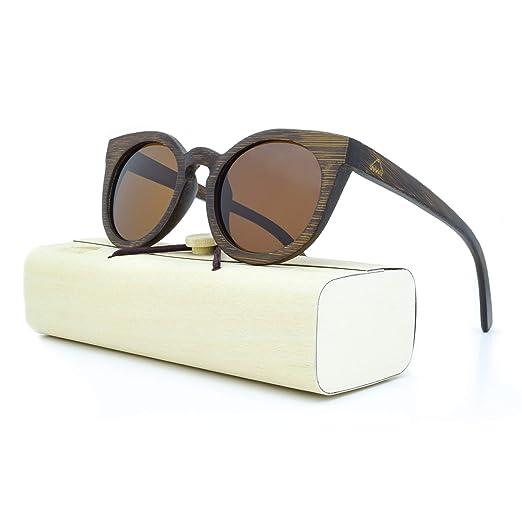 0decc02f79 Amazon.com  Handcrafted Wooden Frame Cat Eye Sunglasses