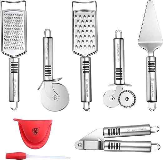Amazon.com: Juego de herramientas de pizza de acero ...