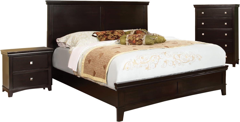 Amazon Com Furniture Of America Pasha 3 Piece Queen Platform