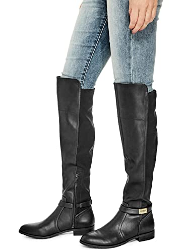 Amazoncom Guess Factory Womens Sweep Riding Boots Black Boots