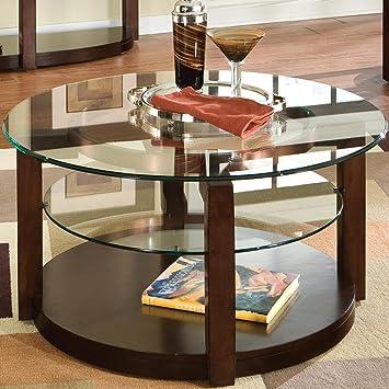Coronado Round Coffee Table In Cherry