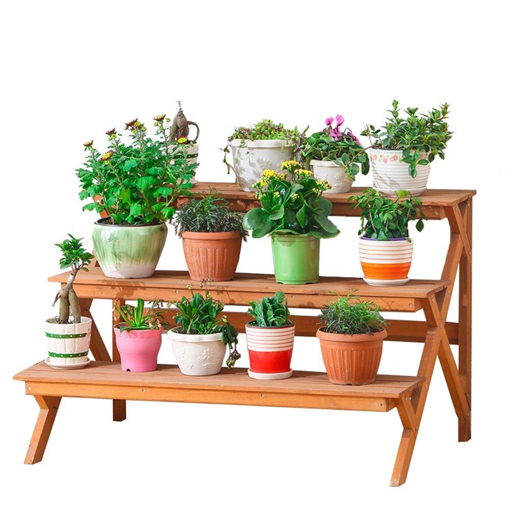 Lxlc Struttura d'angolo del Basamento del Fiore verdeicale di Legno del Basamento del Fiore di 3 Strati della pianta