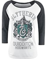 Harry Potter Slytherin - Quidditch Girls longsleeve white/greying