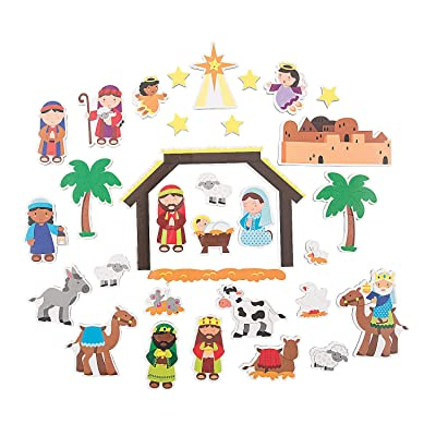 Fun Express Nativity Magnet Sets - 2 Pieces - Educational and Learning Activities for Kids: Toys & Games