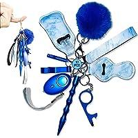 Self-Defense Keychain Women Alarm Personal Keychain Set Self Defense Alarm Keychain Security Self Protection Hand…