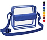 Clear Crossbody Messenger Shoulder Bag with