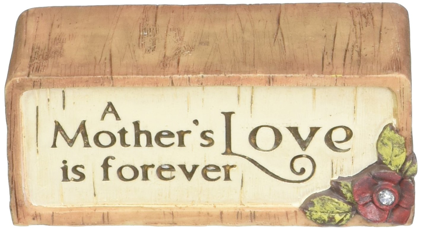 3 by 1-1//4-Inch Pavilion Gift Company 41035 Simple Spirits A Mothers Love is Forever Block Plaque