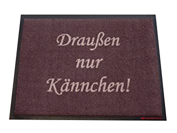 Unterschiedlich Amazon.de: Dreckstückchen wash&go, Fußmatte mit Aufdruck: Draußen  OW14