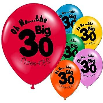 20 Multi Coloured 30th Birthday Party Balloons Amazoncouk Toys Games
