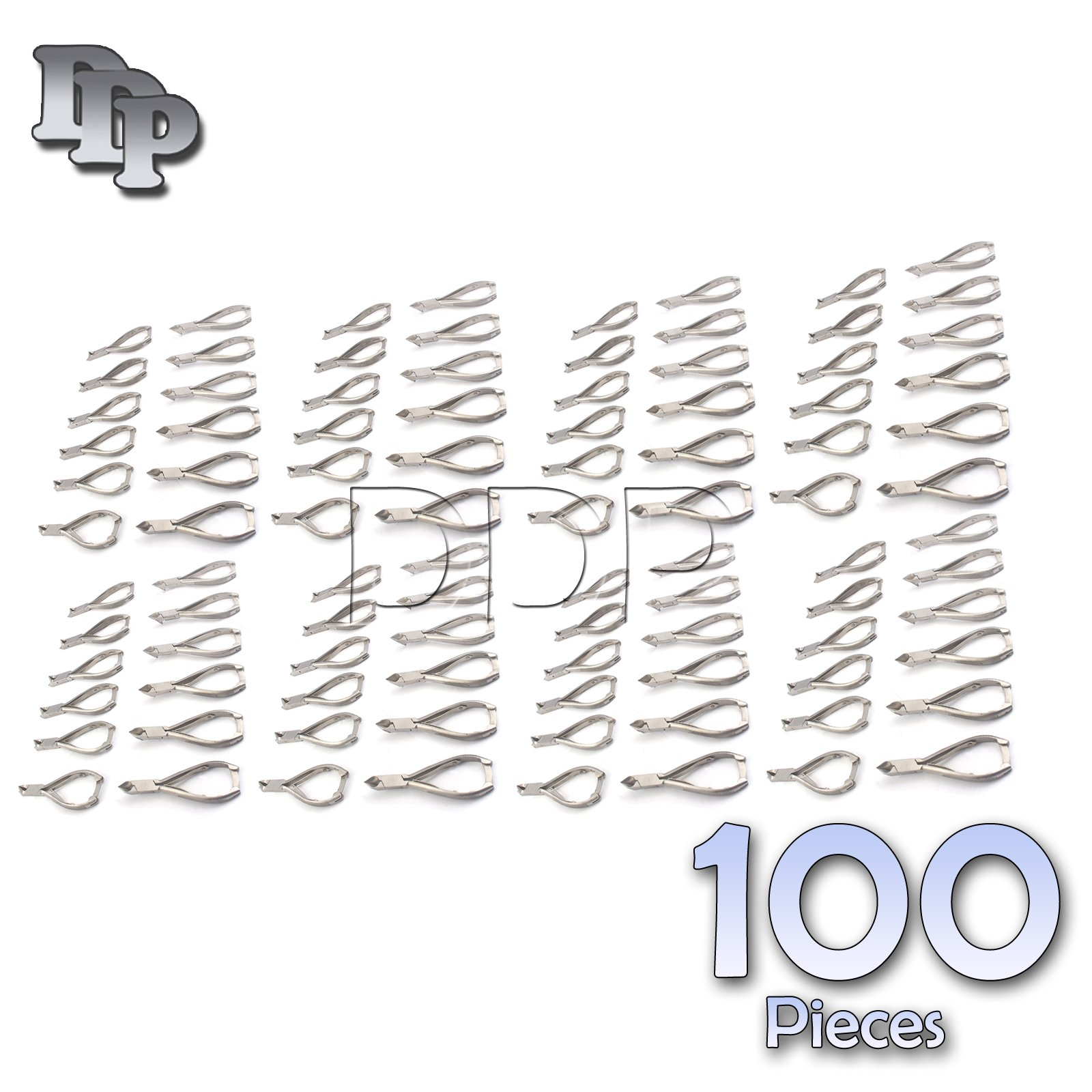 DDP SET OF 100 PROFESSIONAL MOON SHAPE TOENAIL CLIPPER CUTTER CHIROPODY PODIATRY INSTRUMENTS
