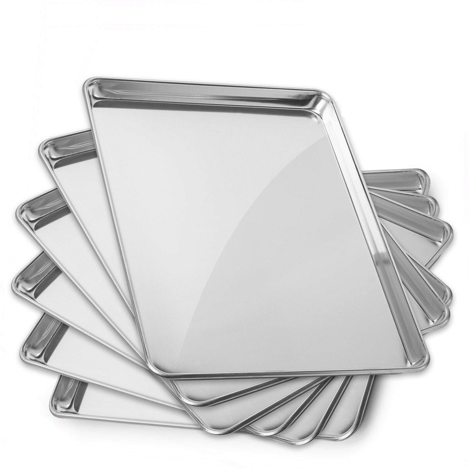 6 Pans Aluminum Baking Pans 15 x 21 Inch #MWMN