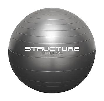 Structure Fitness - Pelota suiza de 65 cm para ejercicio, yoga ...