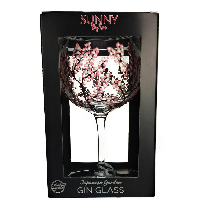 Sunny By Sue - Copa de balón para Gin & Tonic de vidrio decorada a ...