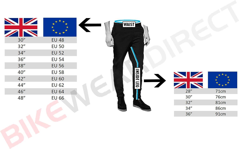 Cuir de Vachette Noir uni Pantalon de Moto Sliders int/égr/és Homme W40 L32