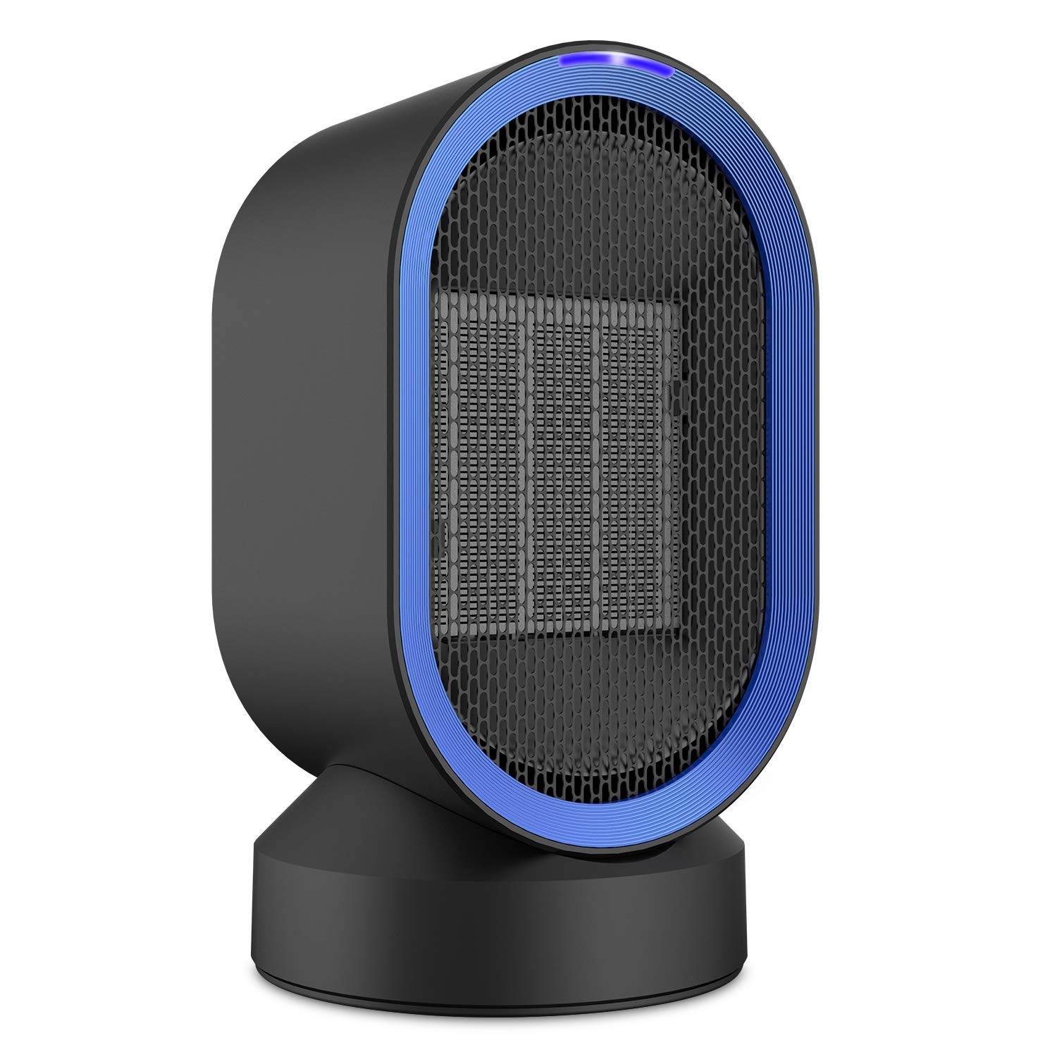 Fitfirst 600 Watt Ceramic Space Heater, Portable Mini Desktop Heater Smart Touch Control,Quick Heat-up, Ultra Quite, Auto- Oscillation for Office Table Home Dorm
