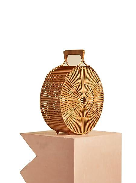 Amazon.com: Bolsas de bambú con asa superior para mujer ...