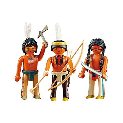 Playmobil Add-On Series - 3 Native American Warriors: Toys & Games
