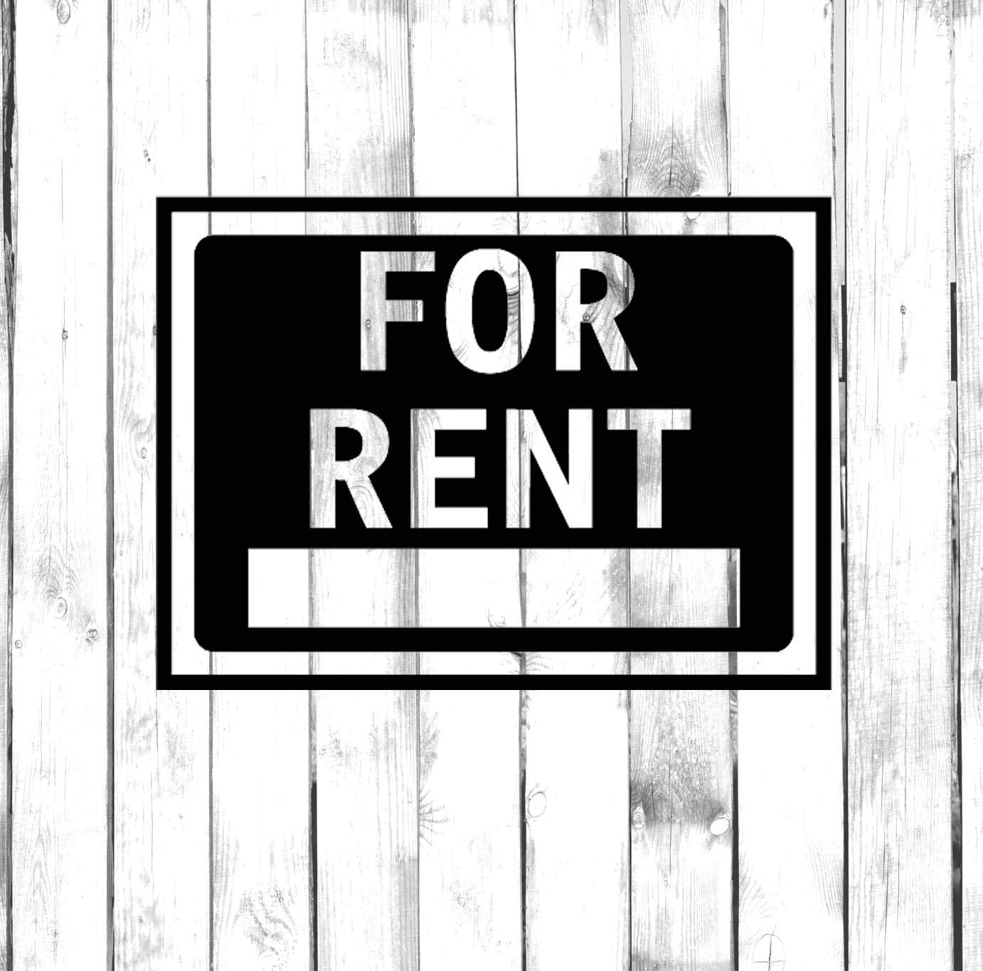 for Rent Property Sign Car Sticker,Vinyl Window Decals for Bottle Laptop Cars Wall Art Quote Funny Stickers