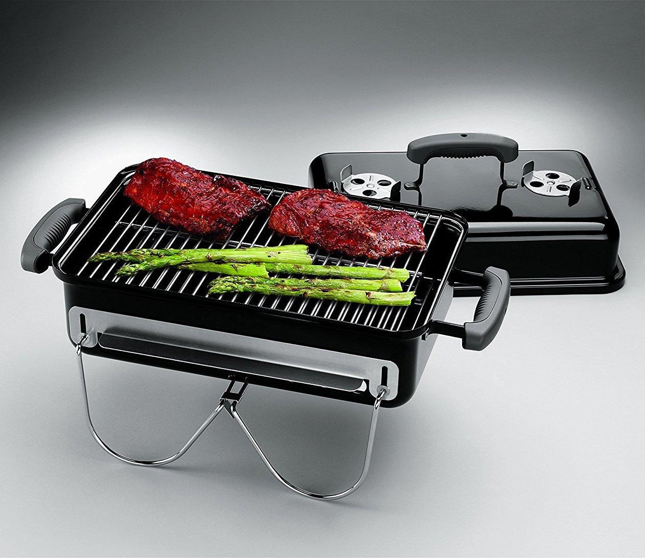 Mini Grill Charcoal Rectangular Outdoor Portable Barbecue for Patio Garden Camping Picnic & e-Book by jn.widetrade.