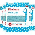 4-Pack of 150-Count Plackers Twin-line Dental Floss Picks