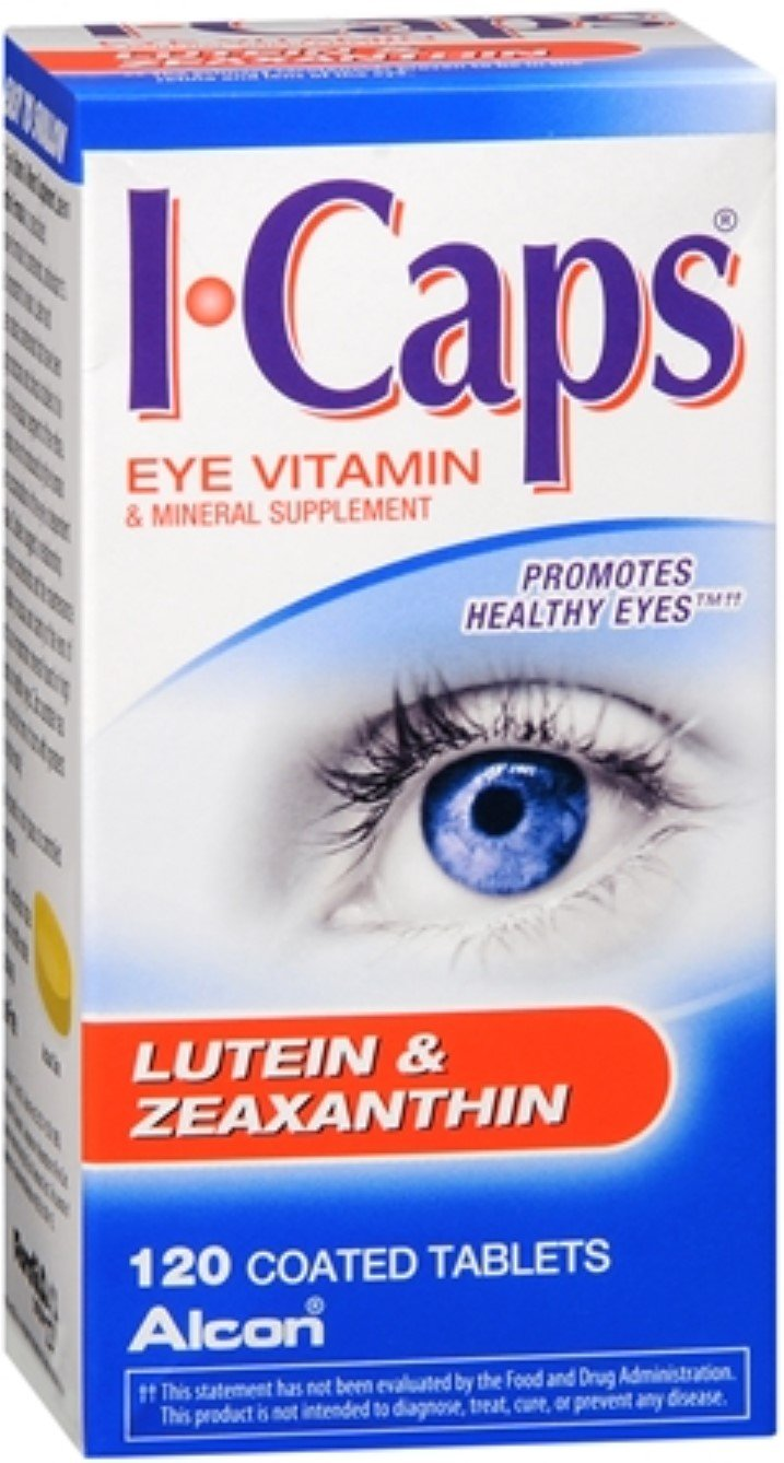 ICAPS Lutein & Zeaxanthin Tablets 120 Tablets (Pack of 12)