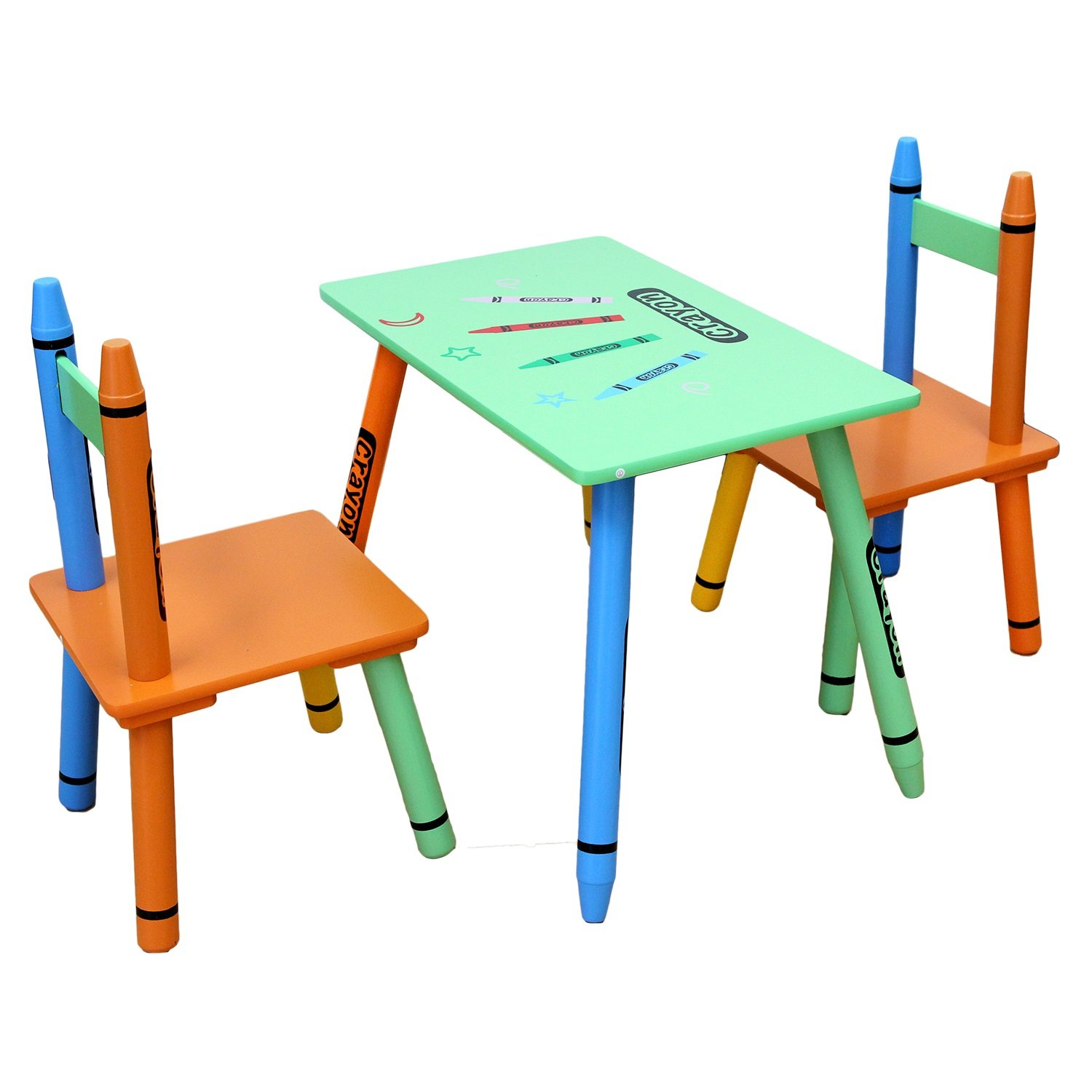 amazon com toddler sized bebe style kids wooden table and chair set