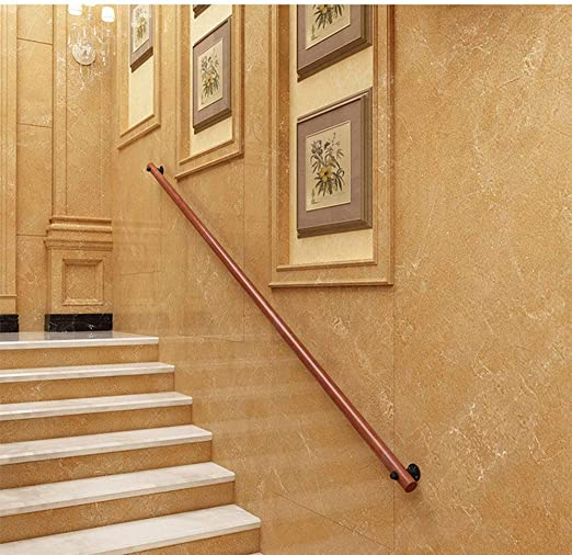 GHAHL Pasamanos Escalera de Madera de barandilla para Escalera de, para Interior y Exterior, con pasamanos,Soporte de Pared, para Interiores y Exteriores, balcón, balaustrada,50cm: Amazon.es: Jardín
