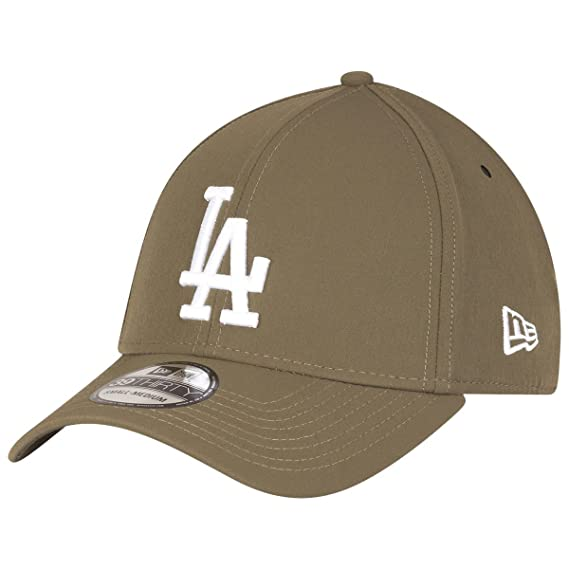eec7dfa6456 New Era Hats 39THIRTY L.A. Dodgers Baseball Cap - Clean Team - Olive ...