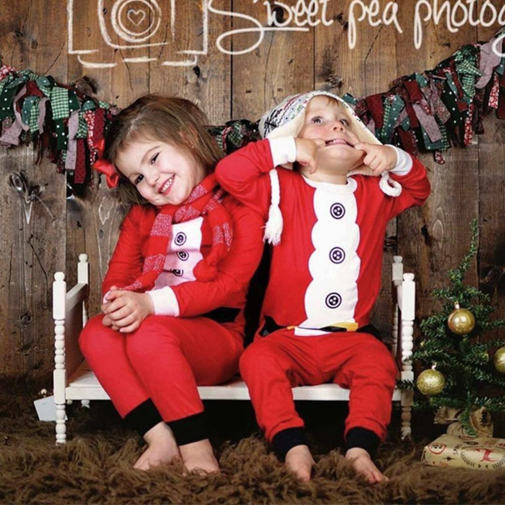 Coerni Christmas Baby Siblings Matching Wear Cotton Romper//Shirt+Pants Set